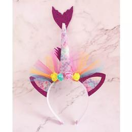 $enCountryForm.capitalKeyWord Australia - Boutique princess Mermaid kids Hair Sticks kids headband lace floral girls designer headband Beach Party designer headbands head bands A4930