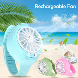 DHL Free Stock 2020 New Fan Watch Handheld Small Fan Small Appliances Creative Air Conditioning Fan Mini Lazy Free DHL