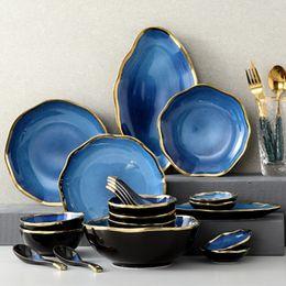 28pcs Starry Phnom Penh Ceramic Tableware Set Ceramic Dishes Set on Sale