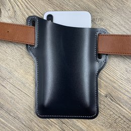 men leather waist hip bag UK - Waist Bag Men Genuine Leather Belt Bum Leg Hip Packs for Men Mini Multi Phone Box Wallet Pocket Hunt Camp Outdoor Carry
