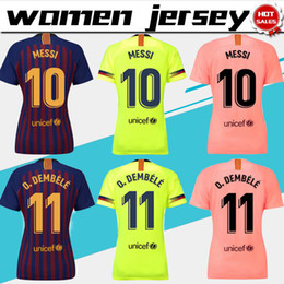 Women Barcelona home Soccer Jerseys 18 19 barça  10 MESSI Women away soccer  Shirts 2019 lady 3rd pink Football uniforms  8 ARTHUR girl 7ec4d2171