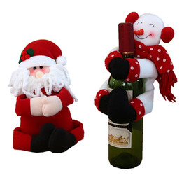 $enCountryForm.capitalKeyWord Australia - Hot sales 1pcs Santa Claus Snowman New Year Christmas Decoration Supplies Gift Christmas Wine Bottle Cover Ornament 40%off