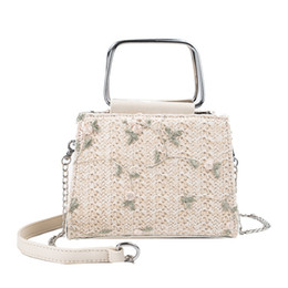 $enCountryForm.capitalKeyWord Australia - Laamei 2019 Summer Straw Beach Crossbody Women Bags Female Handbags Ladies Hand Tote Rattan Lace Flowers Shoulder Messenger Bag