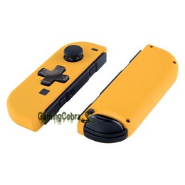 button pad replacement NZ - Soft Touch Caution Yellow Controller Housing (D-Pad Version) w  Full Set Buttons Replacement Shell for Nintendo Switch Joy-Con