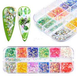 glitter spangles NZ - YWK Nail Art Spangles Rose Gold Mirror Mermaid Flakes 3D Nail Glitter Sequins Makeup Tool Hexagon Slice Decoration Tips