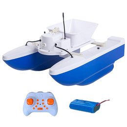 finder tools 2019 - Fishing Bait Boat 1.5Kg Loading Rc Bait Boat 500M Wireless Control Double Body Fast Fish Finder Fishing Ship Tool Toys c