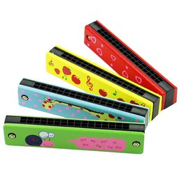 $enCountryForm.capitalKeyWord Australia - Colorful Wooden Harmonica Diatonic Kids Musical Instruments Wooden Toys 16 hole Harmonica Blues Educational Toys for Children