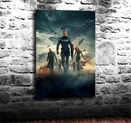 Figure Paintings America Australia - Captain America,The Winter Soldie,1 Pieces Canvas Prints Wall Art Oil Painting Home Decor (Unframed Framed) 24X36.