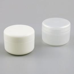 Case Samples Australia - 24 X 250g White Clear Plastic PP Powder Sample Jar Powder Case Makeup Cosmetic Travel Empty Plastic Nail Art Jar