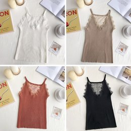 $enCountryForm.capitalKeyWord NZ - 2019 Sexy basic lace camisole Summer knit Tank top Women Adjustable strap camisole female camis High Elasticity top casual