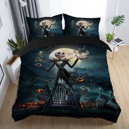 Discount multi beds - The Nightmare Before Christmas Printed Bedding Set Adult Kids Popular Duvet Cover Set Pillowcase Twin Full Queen King Be