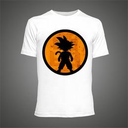 Pop Tees Australia - Summer Fitness Tshirt Son Goku 100% Cotton Printed White Men Funny Style Hip Pop Hipster Tee Shirt Breathable