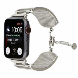$enCountryForm.capitalKeyWord Australia - Wholesale Wrist Strap For 42mm 38mm Apple Smart Watches Strap Belt Bracelet Widening Metal Wrist Belt Men and women Replacement Wristband