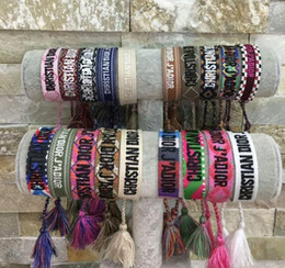 Wholesale Famous designer jewelry American Indian crafts woven bracelets Amulet embroidery letter bracelet for women luxurys jewelry