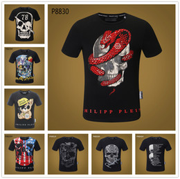 18SS Mix 22 modello Flag Skull White Tops Retro O-Collo Stampa 3D Magliette Pure Cotton Uomo Awesome T Shirt Hip Hop Rock Band Punk Tee in Offerta