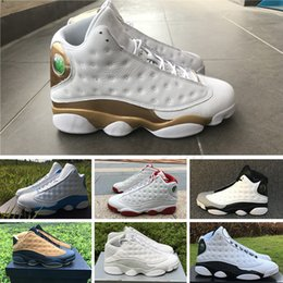 hologram s UK - New 13 13s Basketball Shoes s air men women bred flints grey He Got Game hologram barons Melo Class Of white sports j13 retro Sneakers WK03