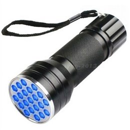 ultra violet lamp Australia - 50PCS new Fine UV Ultra Violet 21 LED Flashlight Mini Blacklight Aluminum Torch Light Lamp