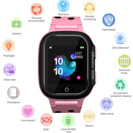 sos watch sim NZ - GEJIAN 2019 New Children's Watch Micro SIM Card Call Tracker Child Camera Anti-Lost Monitoring Positioning SOS Alarm Call Watch