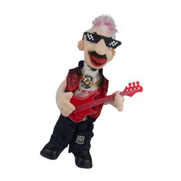 Wholesale punk dolls online – design Electric Plush Toy Punk Bass Man Figure Doll Kids Toys Creative Gifts
