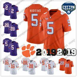 3eb4f76d55 NCAA Clemson Tigers Higgins 2019 Campeonato Cotton Bowl Patch   3 Amari  Rodgers 26 Adam Choice 28 Tavien Feaster Púrpura Blanco Naranja