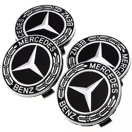 $enCountryForm.capitalKeyWord Australia - 75MM Car Styling 4PCS Set Tire Wheel Hubcaps Circle Cover Stickers for Mercedes Benz Auto Accessories