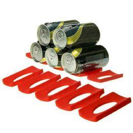 $enCountryForm.capitalKeyWord UK - Cans Beer Tank Fridge Silicone Pads Tile Cushion Foldable Wine Bottle Red Rack Space Saver Stacking Tool Kitchen Organizer
