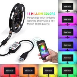 $enCountryForm.capitalKeyWord Australia - 5050 SMD RGB USB charger LED Strip light DC 5V USB Cable LED Light lamp Flexible Tape 1M 2M RF IR RGB Remote control