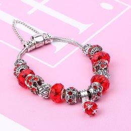 $enCountryForm.capitalKeyWord Australia - Glass bead crystal pendant DIY chain bracelet female European and American foreign trade jewelry 7 colors