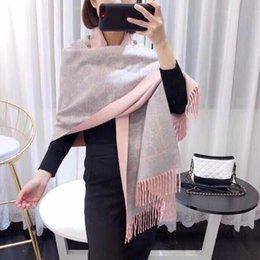Discount men star brand - Luxury Brand Winter Scarf Unisex 2018 Female Male Wool Sky Cashmere Scarf Pashmina Tassels Women Men Wrap Shawl