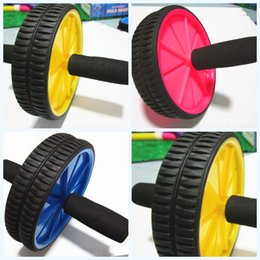 Fitness handles online shopping - Ab Roller Wheel Abdominal Press Exercise Equipment Sponge Handle Body Building Fitness For Home Gym Resistance To Fall yjf1