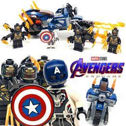 Toys Bricks Australia - 187pcs Super Heroes Compatible Legoing America Captain Outriders Attack Building Blocks Bricks Assembled DIY Toys