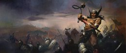 fantasy art oil paintings Australia - Fantasy Art Warrior's War,Oil Painting Reproduction High Quality Giclee Print on Canvas Modern Home Art Decor