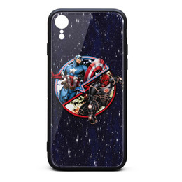 $enCountryForm.capitalKeyWord NZ - Captain America Versus Red Skull Classic Round Sticker iphone XR cases custom cheap case fancy nice case printted popular shock-absorption