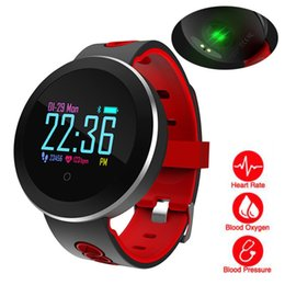 smart buckle watch Canada - Heart Rate Monitor Smart Sports Blood Pressure Pedometer Running OLED Touch Waterproof Fitness Intelligent Watch Men Women C19010301