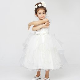 Chinese  Flower Girls Bridesmaid Dress Rose Petals kid Birthday Wedding Party Performance manufacturers