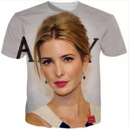 plus size quick dry clothing NZ - New Fashion Mens Womans Ivanka Trump T-Shirt Summer Style Funny 3D Print Casual T-Shirt Quick Dry Hip HopTops Clothing Plus Size 7XL