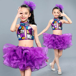 Wholesale ballet dance costumes for kids for sale - Group buy High quality purple Professional Tutu girls Swan Lake sleeveless Ballet Dance Costume For Tutu Kid Skating Ballerina Dress