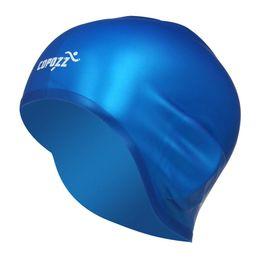 Chinese  COPOZZ Swimming Hat Sexy Women Girls Long Hair Swim Cap Stretch Hat Drape Bathing Cap(blue) manufacturers