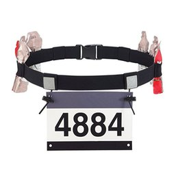 Motor belts online shopping - CRUSHONU Unisex Triathlon Marathon Race Number Belt With Gel Holder Running Belt Cloth Motor Running Outdoor Sports