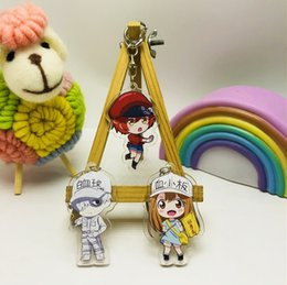 $enCountryForm.capitalKeyWord Australia - New Cartoon Fashion Anime Cells At Work Acrylic Toy Figure Double Side Keychain Keyring Popular Keychain In Anime Fans