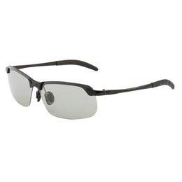 New Night Vision Discolored Polarizing Sunglasses Day And Night Dual-purpose Sunglasses.glasses Al-mg Alloy Sports Sunglasses