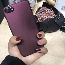 $enCountryForm.capitalKeyWord NZ - Luxury Wine Red Case For Iphone 7 Case For Iphone 6 6s 7 8 Plus 5 5s Se Xs Phone Cases Fashion Hard Pc Frosted Cover Capa Fundas