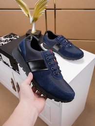 Dark Blue Suits Australia - New brand suit casual shoes European and American high-end style black Yingfeng men's youth trend