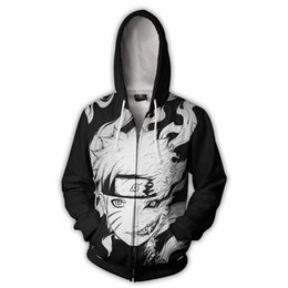 adult anime games Australia - Japanese anime NARUTO Hoodies Zipper Clothing hooded sweatshirt Unisex Adult casual Clothing hoodie Coat Jacket Tops Coats cosplay
