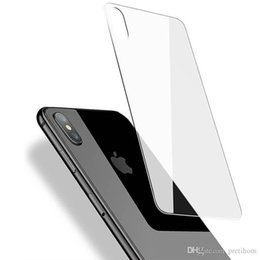 Iphone Back Glasses Australia - For iPhone XS MAX XR Back Tempered Glass Ultra Thin 0.3mm 9H Back Screen Protector for iPhone 5 6 7 8 plus XS MAX No package