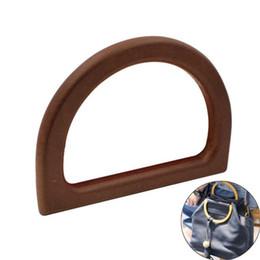 $enCountryForm.capitalKeyWord UK - The Latest Portable D Shape Wooden Replacement Handle DIY Handbag Purse Frame Bag Accessories For Women