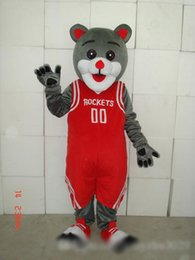 $enCountryForm.capitalKeyWord Australia - High quality hot sale new style red vest gray bear Fancy Dress Cartoon Adult Animal Mascot Costume free shipping