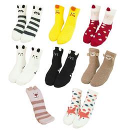 $enCountryForm.capitalKeyWord Australia - Women Girls Colorful Indoors Fluffy Fuzzy Slipper Socks, 3D Cute Animals Winter Warm Crew Fuzzy Socks Value Pack W77