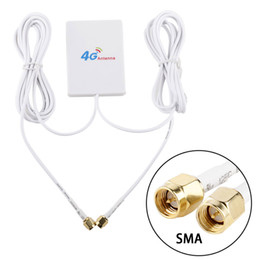 Wholesale TS9 CRC9 SMA Connector 4g LTE Pannel Antenna Dual Slider Connector for Huawei 3G 4G LTE Router Modem Aerial 2M