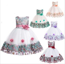 Wholesale Baby Clothes Princess Party Dresses Bridesmaid Pageant Dress Wedding Ball Gown Dresses Formal Summer Dance Tutu Dress Stage Costume B4660
